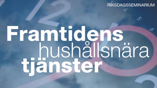 Riksdagsseminraium Rut & hushållsnära tjänster